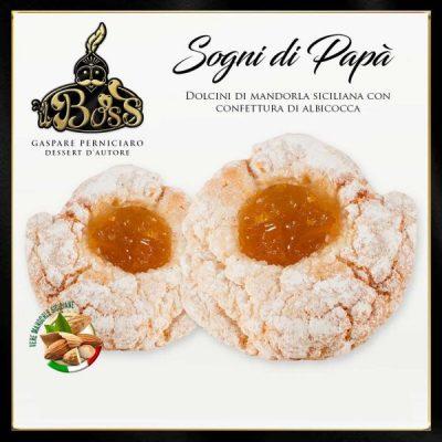 Sogni di Papà Pasticcini Siciliani di Pasta di Mandorla con Confettura di Albicocche