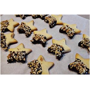 Stelline di Natale Biscotti Ricoperti di Cioccolato