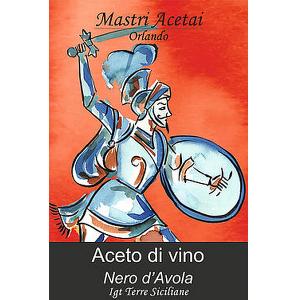 Etichetta Aceto di Vino Nero d'Avola Mastri Acetai