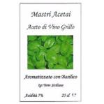 Aceto di Vino Grillo con Basilico