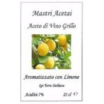 Aceto di Vino Grillo Aromatizzato con Limone