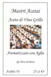 Aceto di Vino Grillo Aromatizzato con Aglio