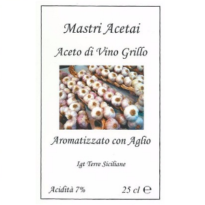 Aceto di Vino Grillo Aromatizzato Aglio