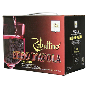"Zabuttino Nero d'Avola Bag Box lt5 ""Cellaro"""