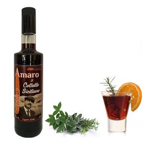 """Amaro il Coltello Siciliano Cl 70 """"Liquore Tonico e Digestivo"""""""