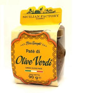 """Patè di Olive Verdi Gr 90 """"Sicilian Factory"""" Gourmet"""