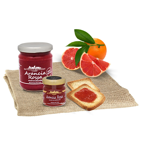 "Marmellata di Arancia Rossa Gr 240 ""Sicilian Factory"" Gourmet"