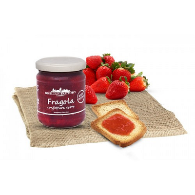 "Confettura Extra di Fragola Gr 240 ""Sicilian Factory"" Gourmet"