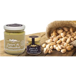 Vendita Online: Opera di Pistacchio Sicilian Factory Gourmet. Crema inconfondibile per gusto e cremosità; è un opera che rappresenta un dono per il nostro palato ed un atto di amore verso se stessi.