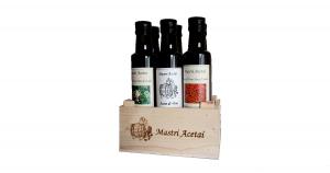 Cassetta Aceti Aromatizzati 6 bottiglie da 250 ml Mastri Acetai