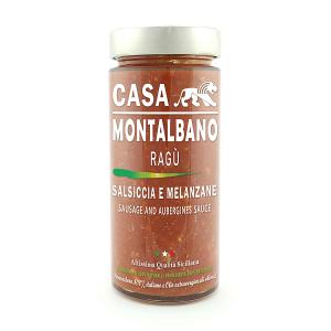Ragù Salsiccia e Melanzane Gr 300 Casa Montalbano