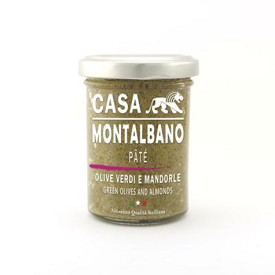 Patè di Olive Verdi e Mandorle Gr 90 Casa Montalbano