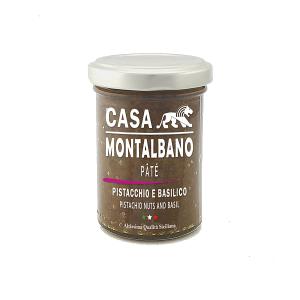 Patè di Pistacchio e Basilico Gr 90 Casa Montalbano