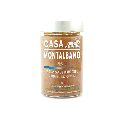 Pesto di Melanzane e Mandorle Gr 200 Casa Montalbano