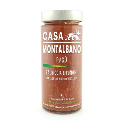 Ragù Salsiccia e Funghi Gr 300 Casa Montalbano