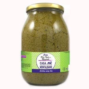 Patè di Olive Verdi e Mandorle 950 Gr Casa Montalbano