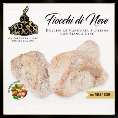 Fiocchi di Neve Dolcini di Pasta di Mandorla Siciliana